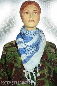Arafatka niebiesko-biała