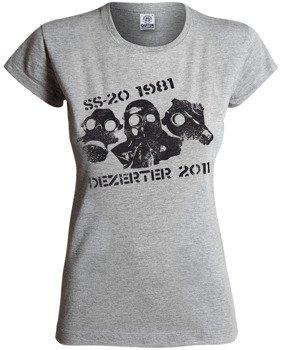 bluzka damska DEZERTER - 1981-2011 kolor: szary melanż
