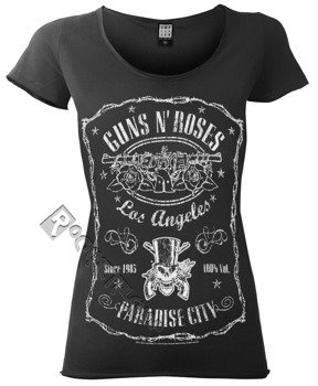 bluzka damska GUNS N' ROSES - LA PARADISE CITY ciemnoszara