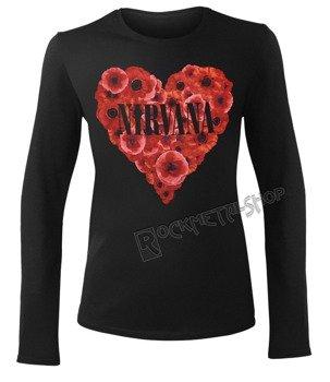 bluzka damska NIRVANA - POPPY HEART GIRLS długi rękaw