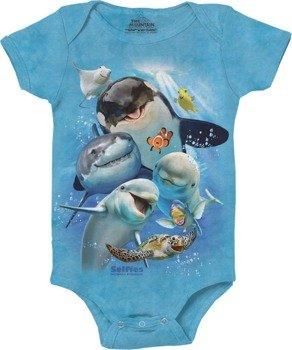 body dziecięce THE MOUNTAIN - OCEAN SELFIE, barwione