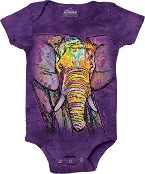 body dziecięce THE MOUNTAIN - RUSSO ELEPHANT, barwione