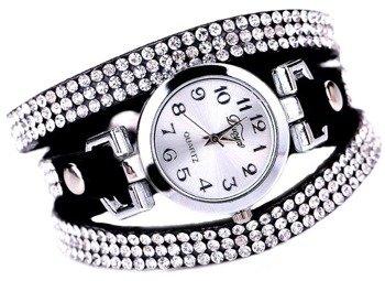 bransoletka/zegarek LUXURY BLACK