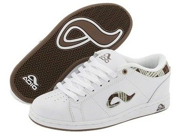 buty damskie ADIO-AVERY (WHITE/CHOCOLATE PLAID)