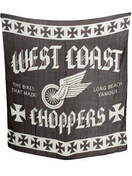 flaga WEST COAST CHOPPERS - WINGS SCARF (120cm x120cm) black