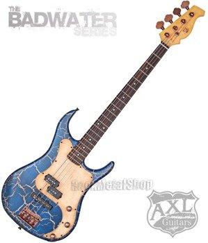gitara basowa AXL BADWATER / BLUE CRACKLE