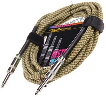kabel gitarowy BOSTON - BRAIDED PRO 6m jack prosty/prosty