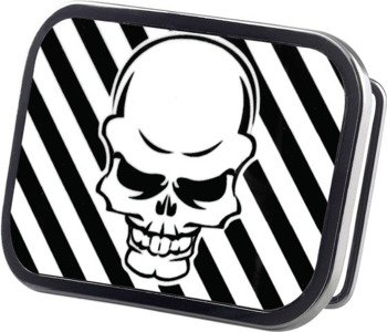 klamra do pasa METAL SKULL BLACK/WHITE
