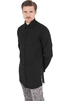 koszula SIDE-ZIP LONG CHECKED FLANELL blk/blk