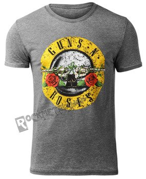 koszulka GUNS N' ROSES - CIRCLE LOGO BURNOUT
