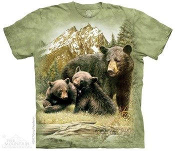 koszulka THE MOUNTAIN - BLACK BEAR FAMILY, barwiona