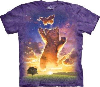 koszulka THE MOUNTAIN - KITTEN CLOUD, barwiona