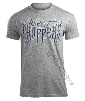 koszulka WEST COAST CHOPPERS - CUSTOM LOGO, szary melanż