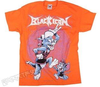 koszulka dziecięca BLACK ICON - TOM AND JERRY pomarańczowa