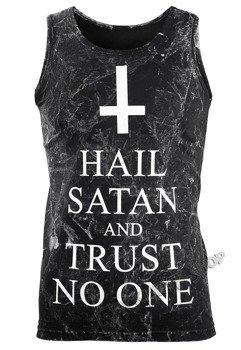 koszulka na ramiączkach AMENOMEN - HAIL SATAN AND TRUST NO ONE (OMEN095KR ALLPRINT WHITE)