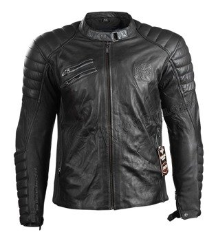 kurtka WEST COAST CHOPPERS - RAPTOR LEATHER BLACK,  ANILINA