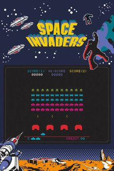 plakat SPACE INVADERS - SCREEN