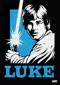 plakat z metalu STAR WARS - LUKE