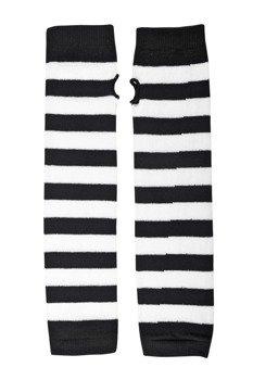 rękawiczki POIZEN INDUSTRIES - STRIPE ARMWARMERS BLACK WHITE