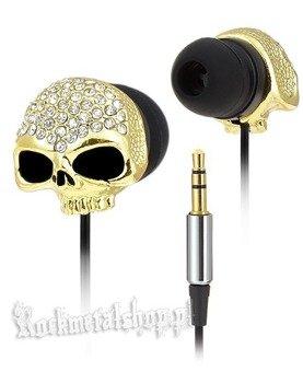 słuchawki ROCK DADDY - SKULL GOLD (92009-002)