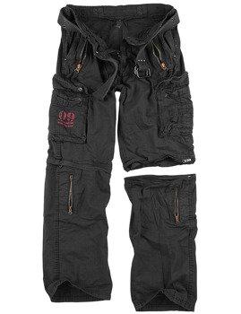spodnie bojówki ROYAL OUTBACK TROUSER - ROYALBLACK, odpinane
