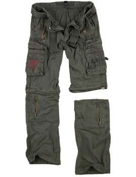 spodnie bojówki ROYAL OUTBACK TROUSER - ROYALGREEN, odpinane