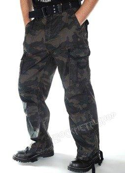 spodnie bojówki ROYAL VINTAGE dark camo