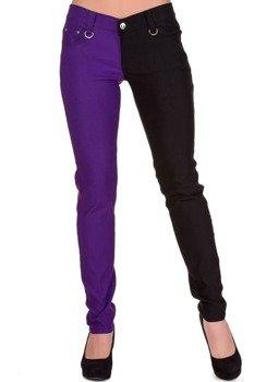 spodnie damskie BANNED - PURPLE/BLACK
