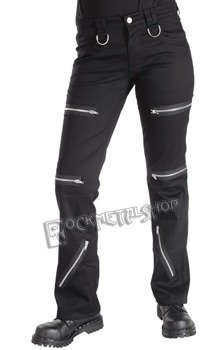 spodnie unisex DESTROY PANTS DENIM BLACK