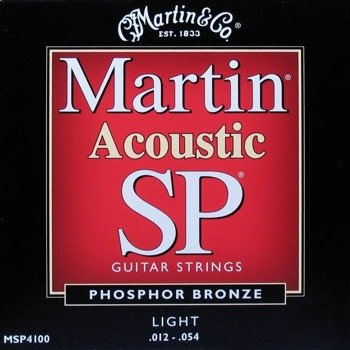 struny do gitary akustycznej MARTIN MSP4100 - PHOSPHOR BRONZE Light /012-054/
