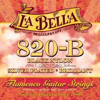struny do gitary klasycznej LA BELLA Flamenco 820-B Silver Plated / BLACK Nylon