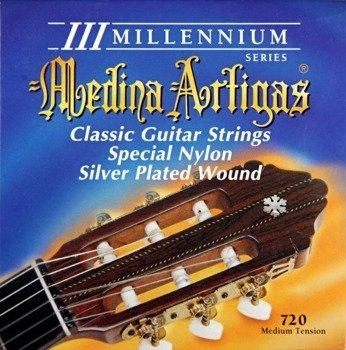 "struny do gitary klasycznej MEDINA ARTIGAS ""III MILLENIUM"" Clear Nylon Medium 720"