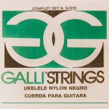 struny do ukulele sopranowego GALLI G-216-B Black Nylon