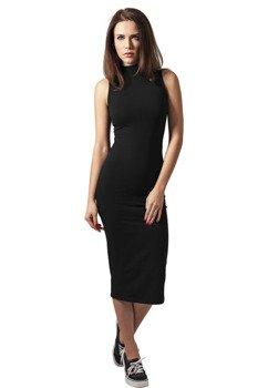 sukienka LADIES STRETCH JERSEY TURTLENECK DRESS