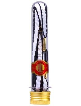 sznurowadła TUBELACES - GOLD ROPE HOOK UP WHITE/BLACK (130 cm)