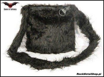 torebka SMALL BLACK FUR BAG