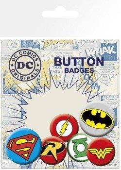 zestaw 6 szt. przypinek DC COMICS -LOGOS