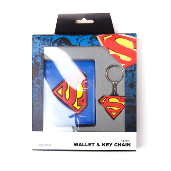 portfel + brelok SUPERMAN