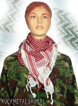 Arafatka  bordowo-biała