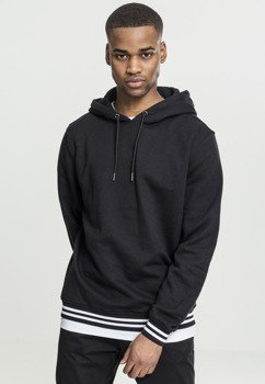 bluza COLLEGE SWEAT HOODY blk/blk, z kapturem