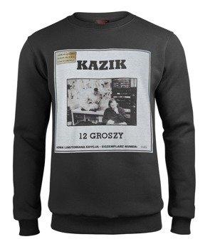 bluza KAZIK - 12 GROSZY, czarna, bez kaptura (VINYL EDITION)