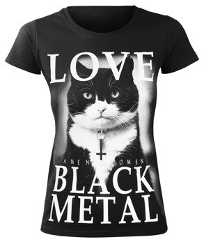 bluzka damska AMENOMEN - LOVE BLACK METAL (OMEN123DA)