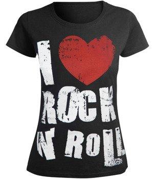 bluzka damska I LOVE ROCK AND ROLL