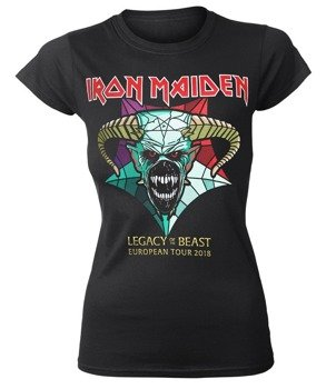 bluzka damska IRON MAIDEN - EURO TOUR 2018, LEGACY OF THE BEAST, koncertowa
