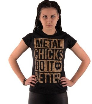 bluzka damska METAL CHICKS DO IT BETTER - METAL CHICKS BRONZE