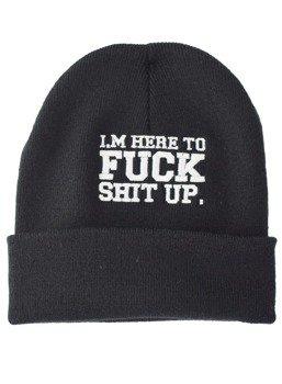 czapka zimowa DARKSIDE - IM HERE TO FUCK SHIT UP