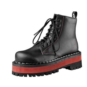 glany ALTERCORE czarne 8-dziurkowe (653 VEGAN BLACK/RED)