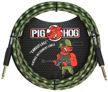"kabel do gitary PIG HOG ""Camouflage"" jack prosty, 3m"