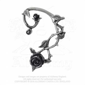 kolczyk BLACK ROSE EARWRAP