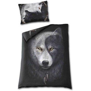 komplet pościelowy SPIRAL - WOLF CHI, kołdra (135*200) + poduszka (80*80)  + poduszka (75*50)